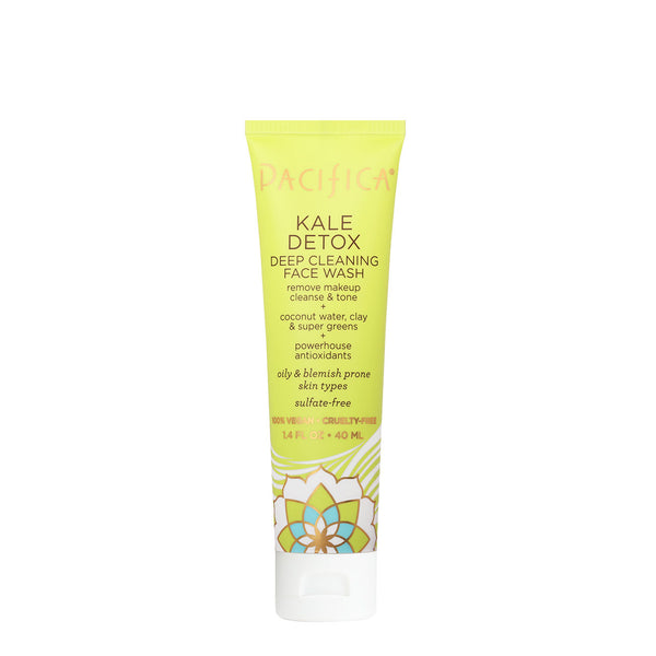 Kale Detox Deep Cleaning Face Wash TRAVEL SIZE (1.4 fl oz)-Skin Care-Pacifica Beauty