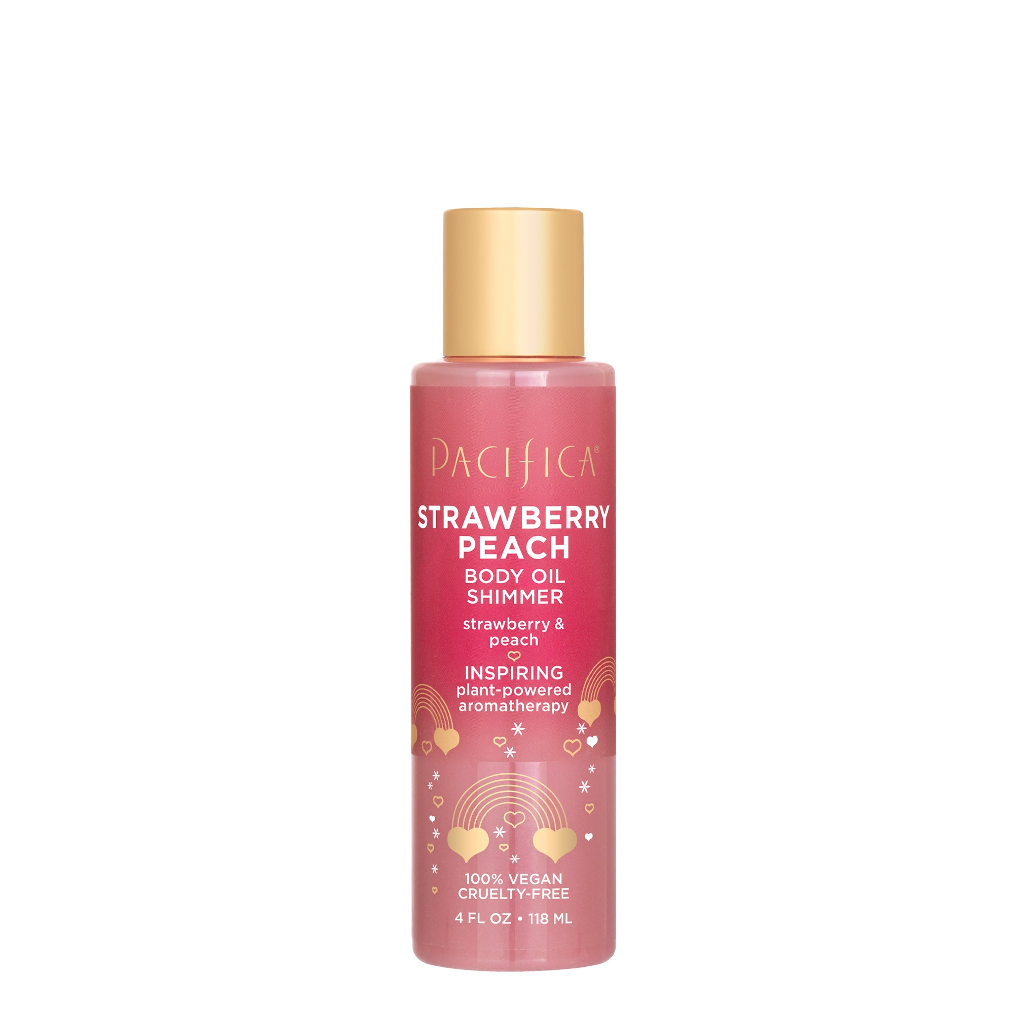 Strawberry Peach Body Oil Shimmer - Bath & Body - Pacifica Beauty