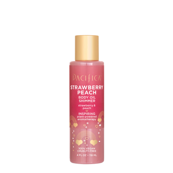 Strawberry Peach Body Oil Shimmer-Bath & Body-Pacifica Beauty