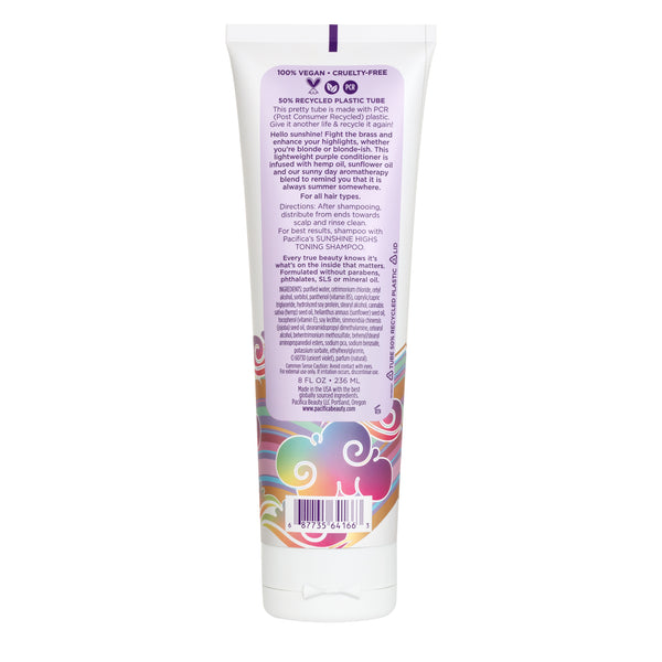 Sunshine Highs Toning Conditioner-Haircare-Pacifica Beauty