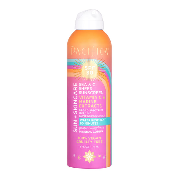 Sea & C Sheer Sunscreen Spray SPF30-Suncare-Pacifica Beauty