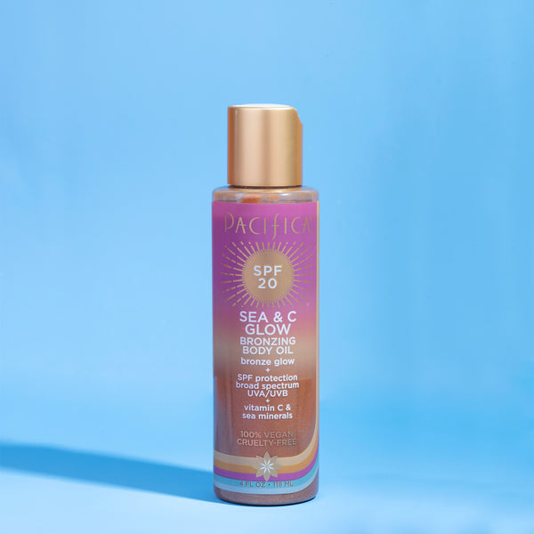 Sea & C Glow Bronzing Body Oil SPF20 - Suncare - Pacifica Beauty