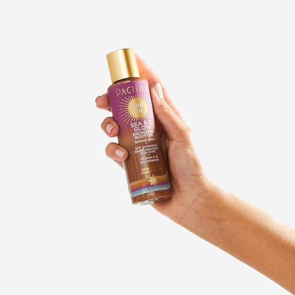 Sea & C Glow Bronzing Body Oil SPF20-Suncare-Pacifica Beauty