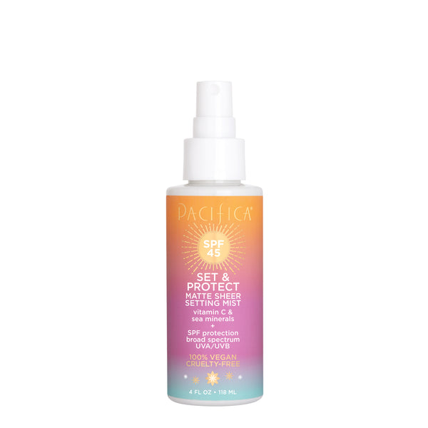 Sea & C Set & Protect Matte Sheer Setting Mist SPF 45 - Suncare - Pacifica Beauty