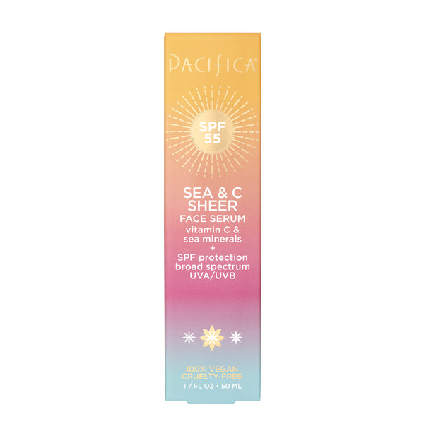 Sea & C Sheer Face Serum SPF 55-Suncare-Pacifica Beauty