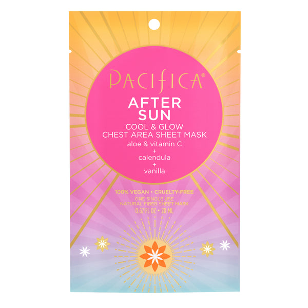 After Sun Cool & Glow Chest Area Sheet Mask-Suncare-Pacifica Beauty