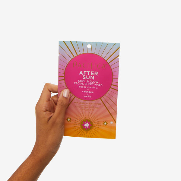 After Sun Cool & Glow Chest Area Sheet Mask - Suncare - Pacifica Beauty