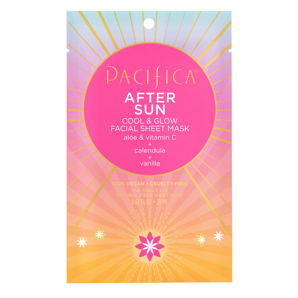After Sun Cool & Glow Facial Sheet Mask-Suncare-Pacifica Beauty