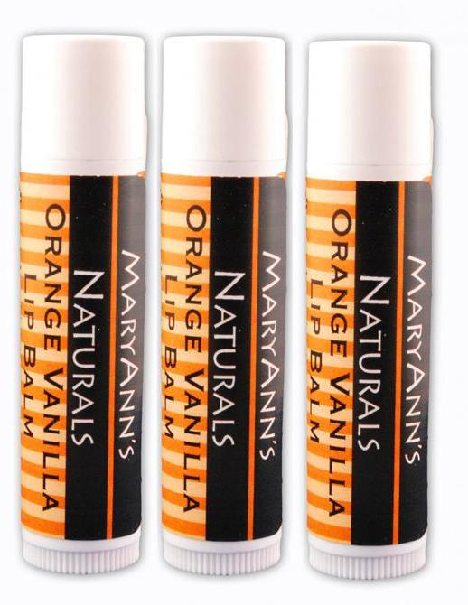 3-Pack of Orange Vanilla Lip Balm
