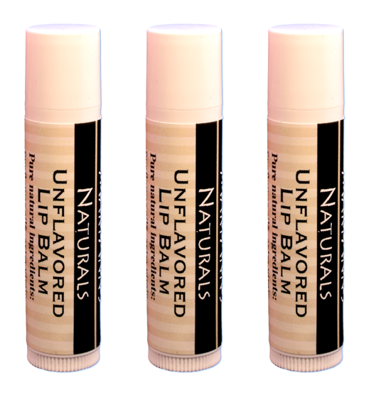 3-Pack of Unflavored Lip Balm