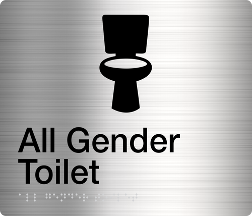 ALL GENDER TOILET  Stainless Steel