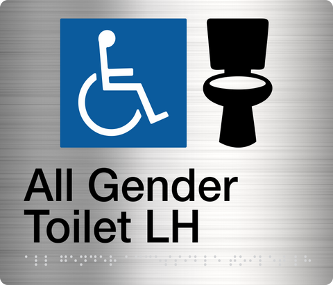ALL GENDER TOILET (Right Handed)  Stainless Steel