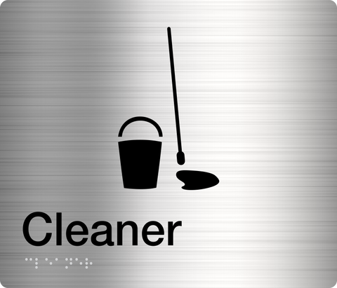 Cleaner Sign silver 1 icon