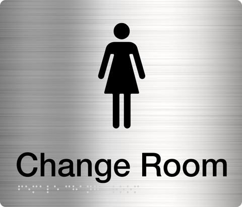 Change Room Sign blue 1 female icon