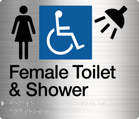 Female Shower Sign blue 2 icons