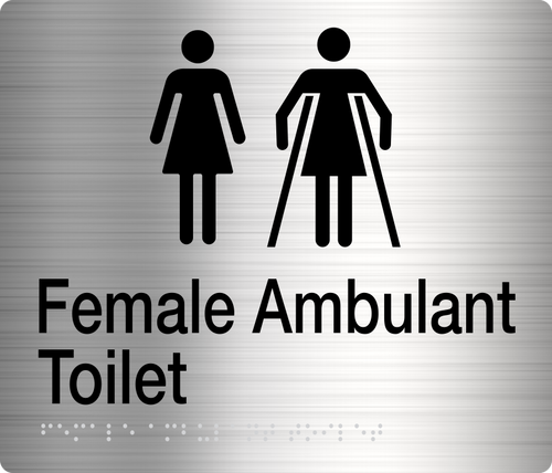 Female / Female Ambulant Toilet  Stainless Steel