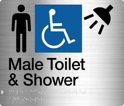 Male Disabled Toilet & Shower  Stainless Steel