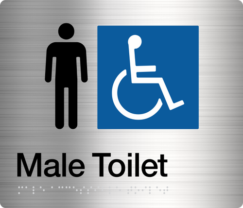 Male Disabled Toilet Stainless Steel