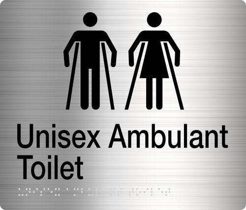 Male Female Ambulant Toilet  Stainless Steel