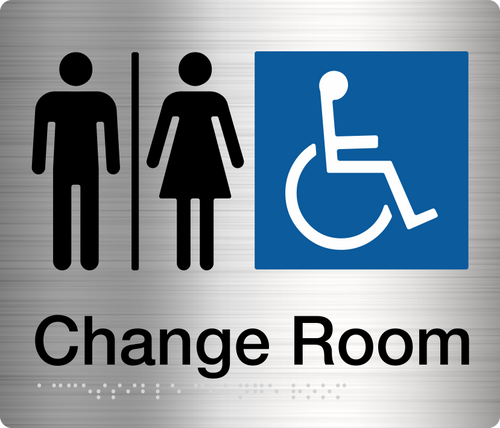 Male Female Disabled Change Room  Stainless Steel