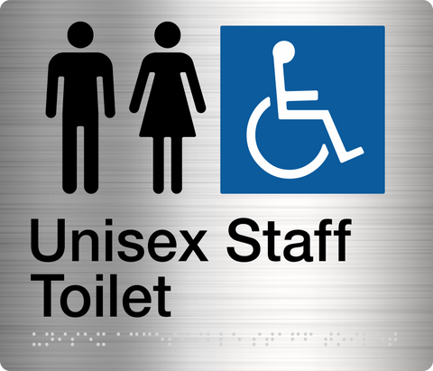 Male Toilet Sign  Stainless Steel