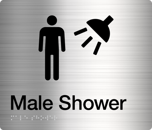 Male Shower  Stainless Steel