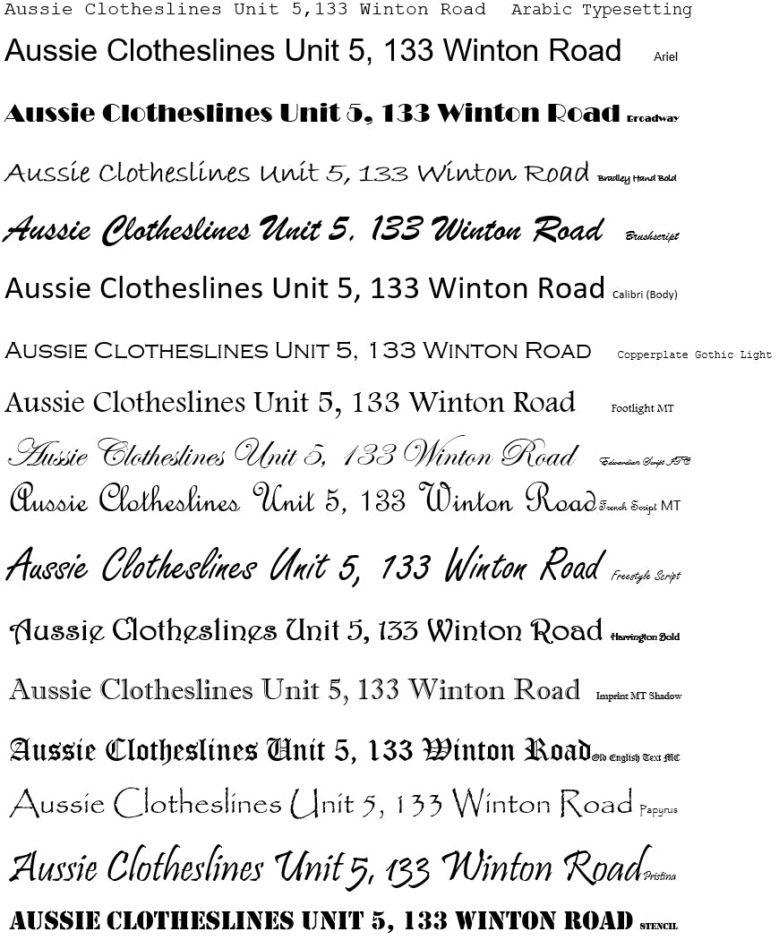 Faceplate Fonts