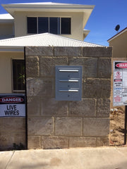 Multibank Letterbox:   Front-opening + Wall-mounted