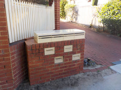 Multibank Letterbox:  Rear-opening + Wall-mounted