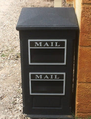 Sandstone Double Letterbox with Texturecoat