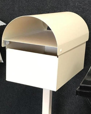 Economy Round Top Letterbox with Post-Aussie Clotheslines & Letterboxes