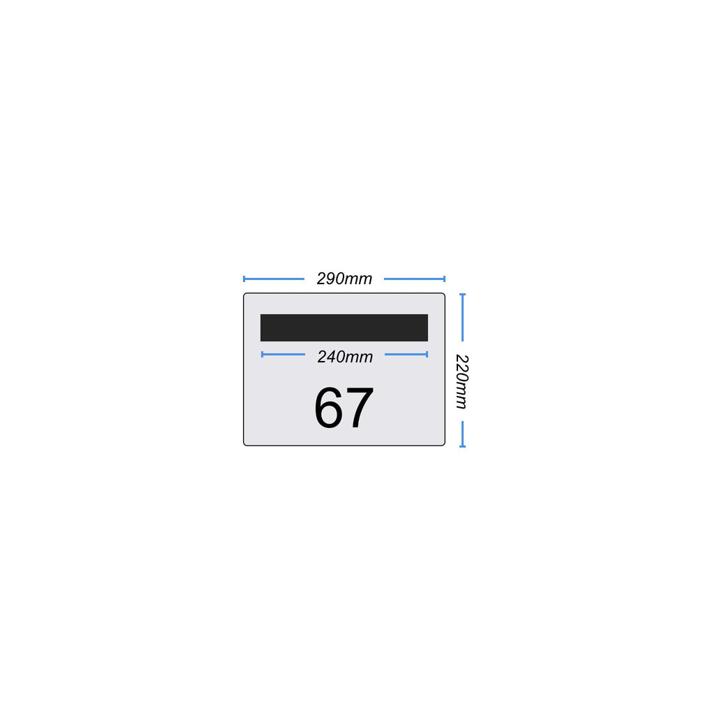 Landscape Faceplate 290 x 220 - with Mail Slot