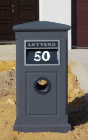 Sandstone Deluxe Letterbox with Texturecoat-Aussie Clotheslines & Letterboxes