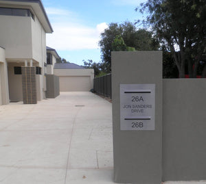 Customised Letterbox Plates-Aussie Clotheslines & Letterboxes