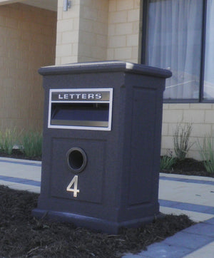 Sandstone Large Letterbox with Texturecoat-Aussie Clotheslines & Letterboxes