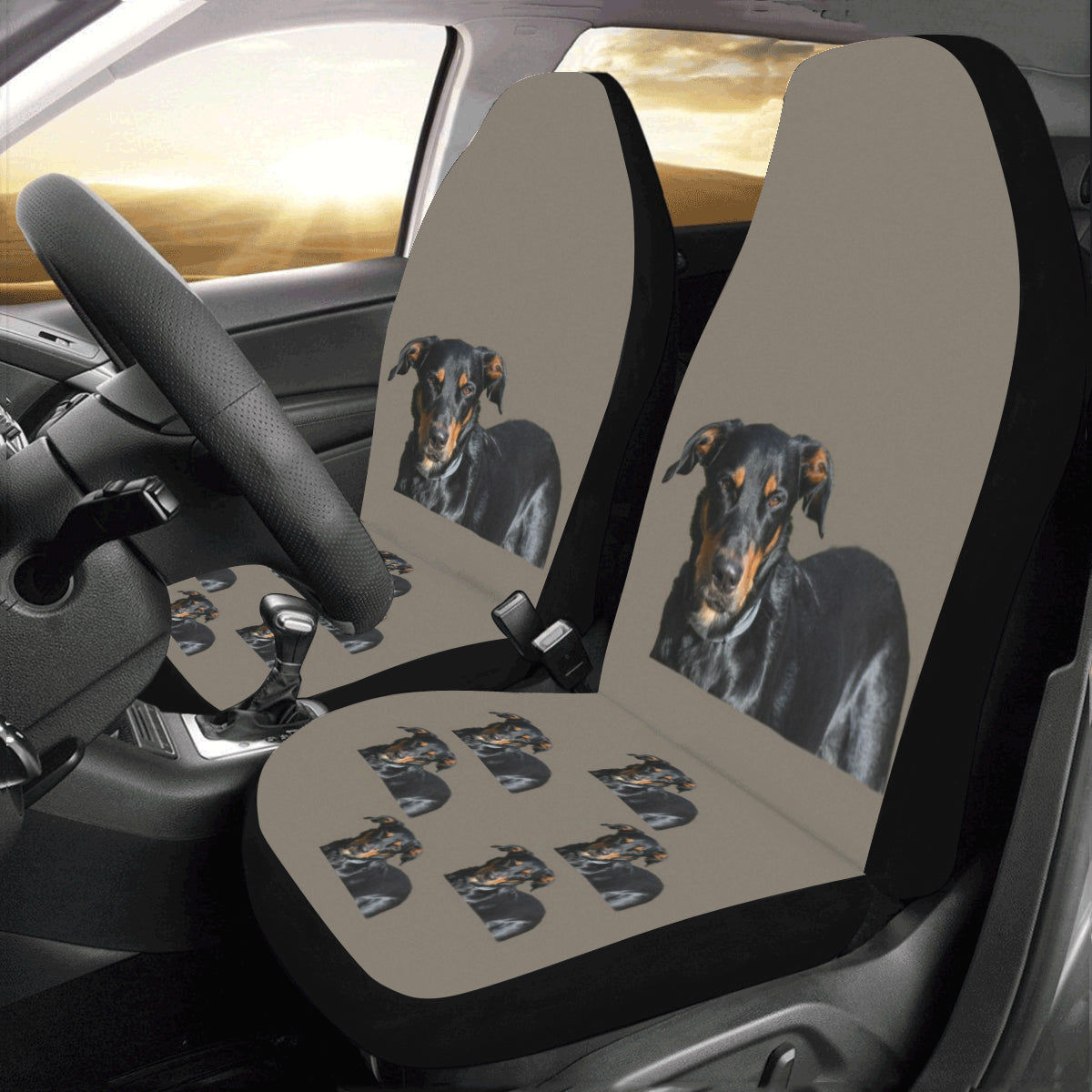 Beauceron Car Seat Covers (Set of 2)