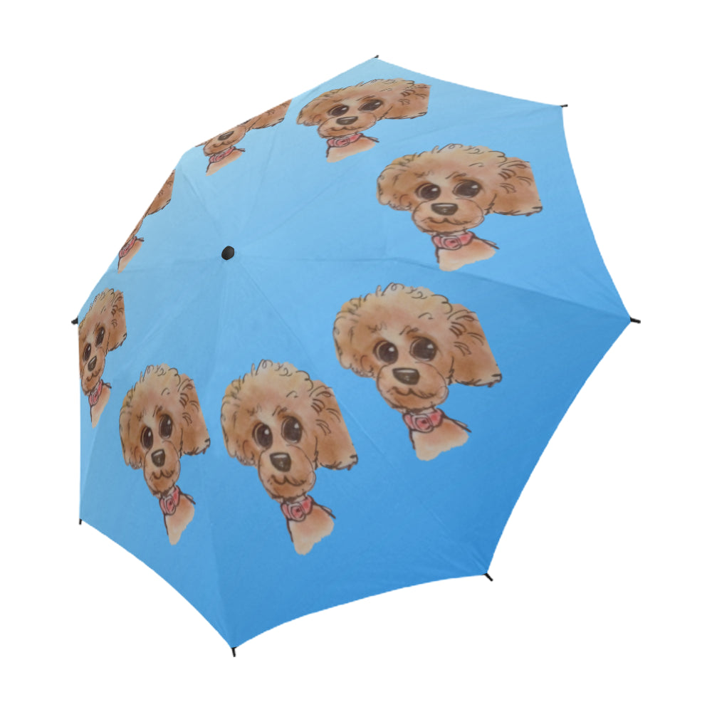Red Poodle Cartoon Umbrella