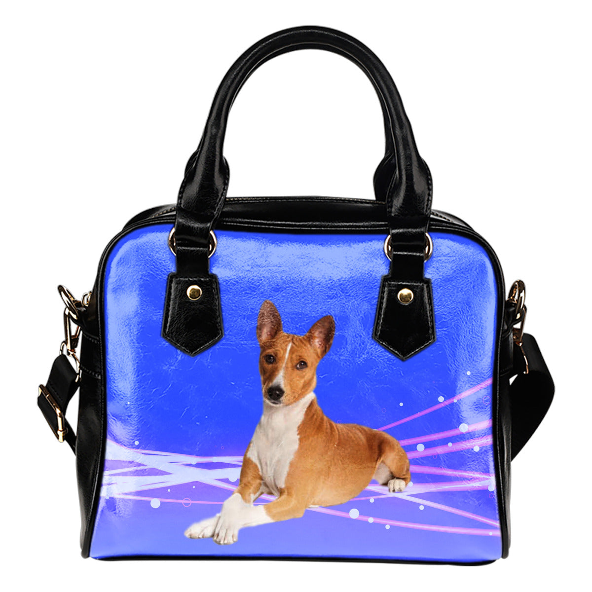 Basenji Shoulder Bag - Blue