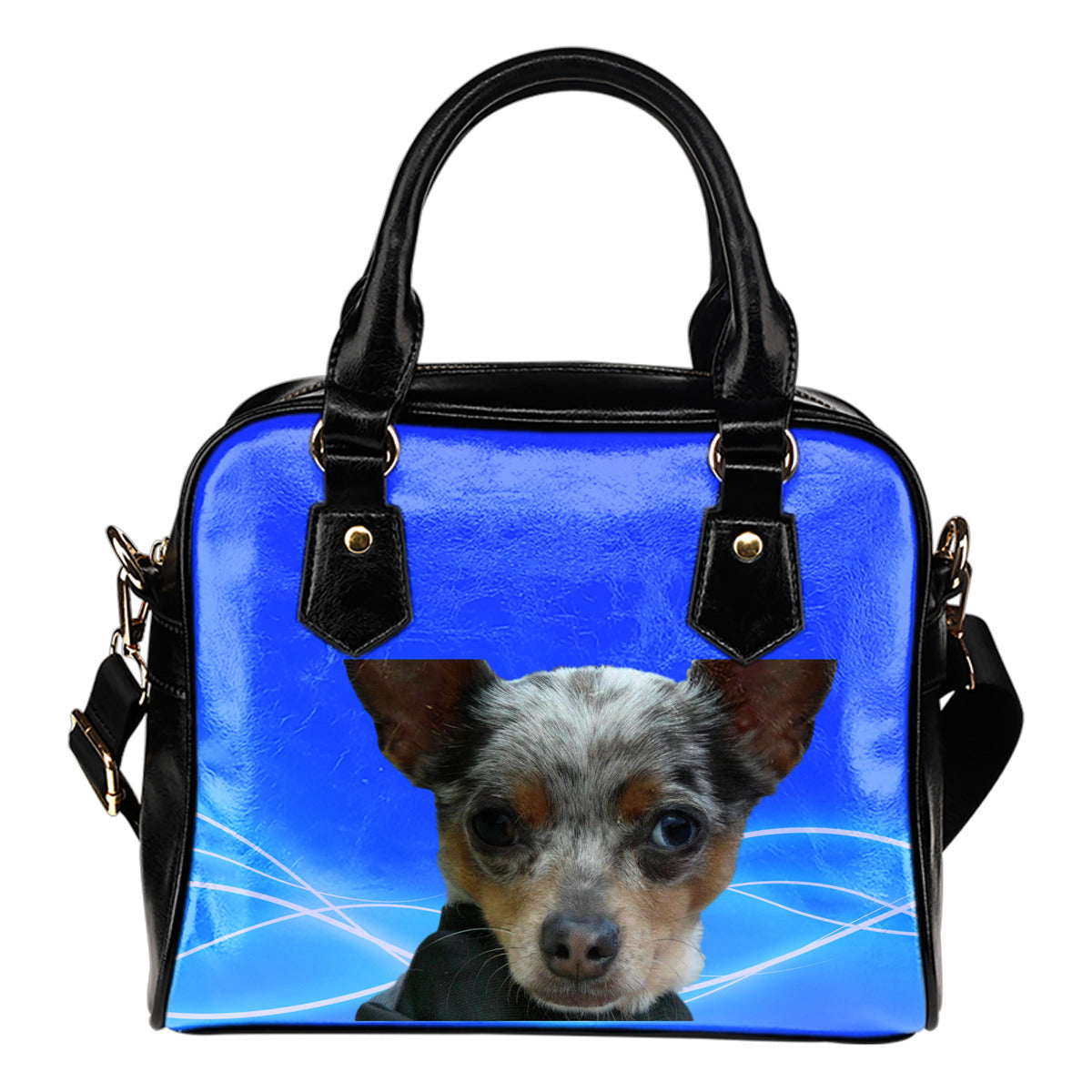 Chihuahua Shoulder Bag - Blue Merle