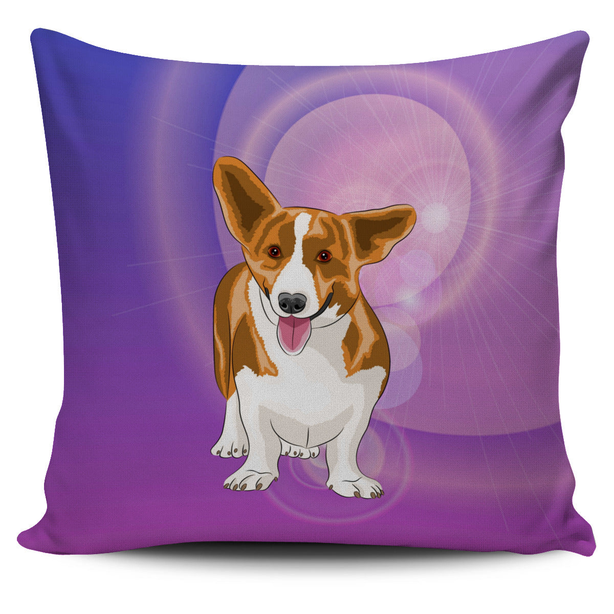 Corgi Pillow Cover - Purple