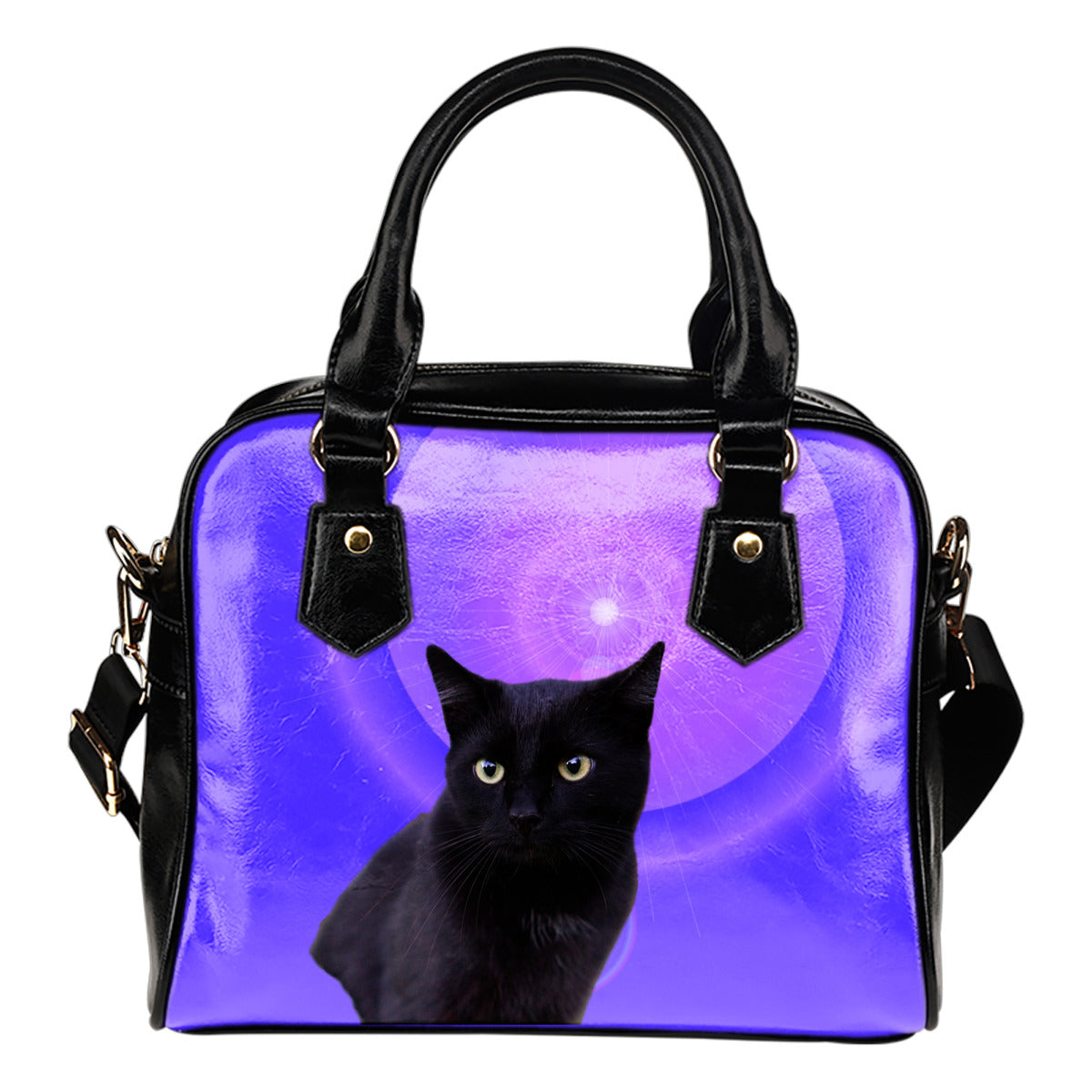 Cat Shoulder Bag - Black