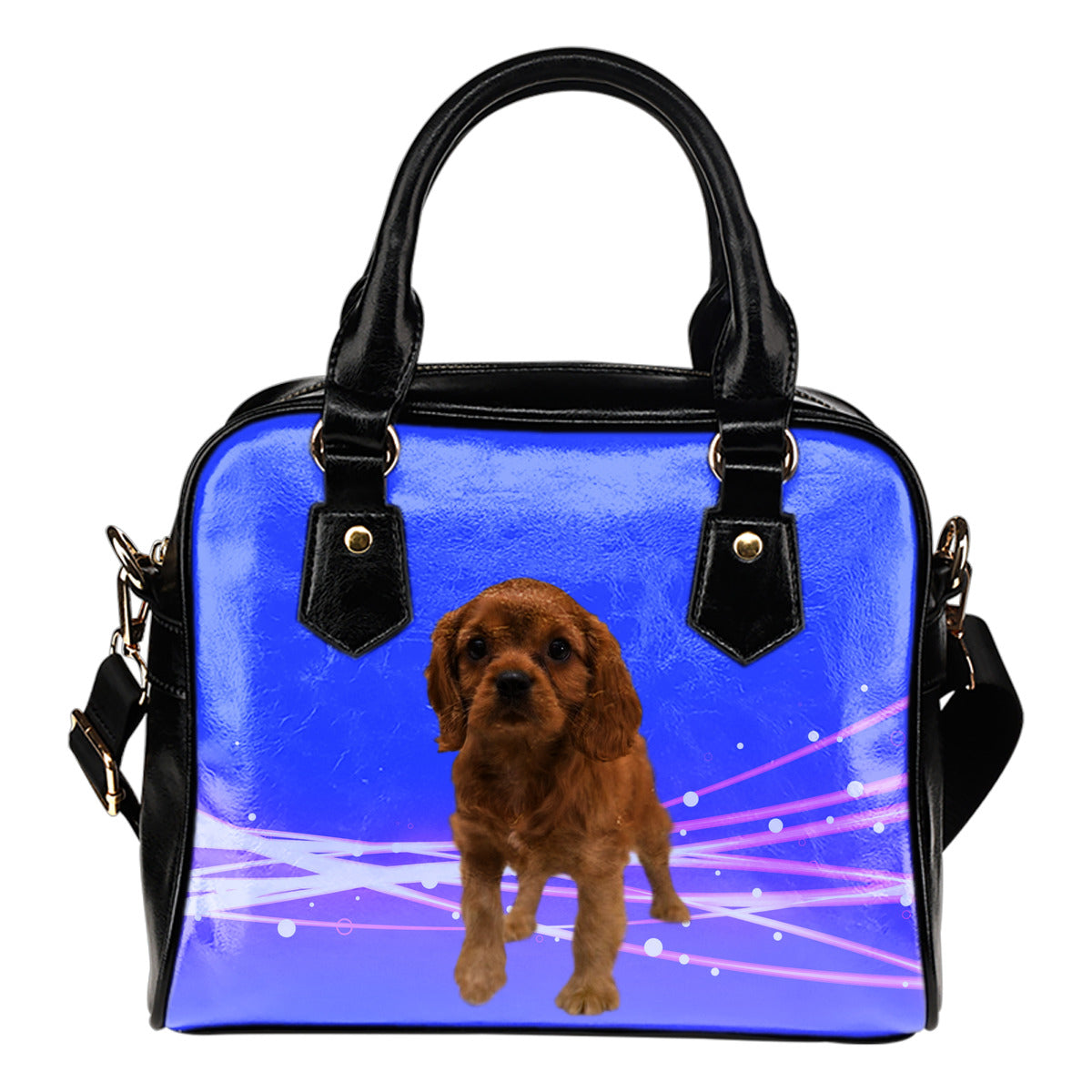Cavalier King Charles Spaniel Shoulder Bag - Ruby Puppy