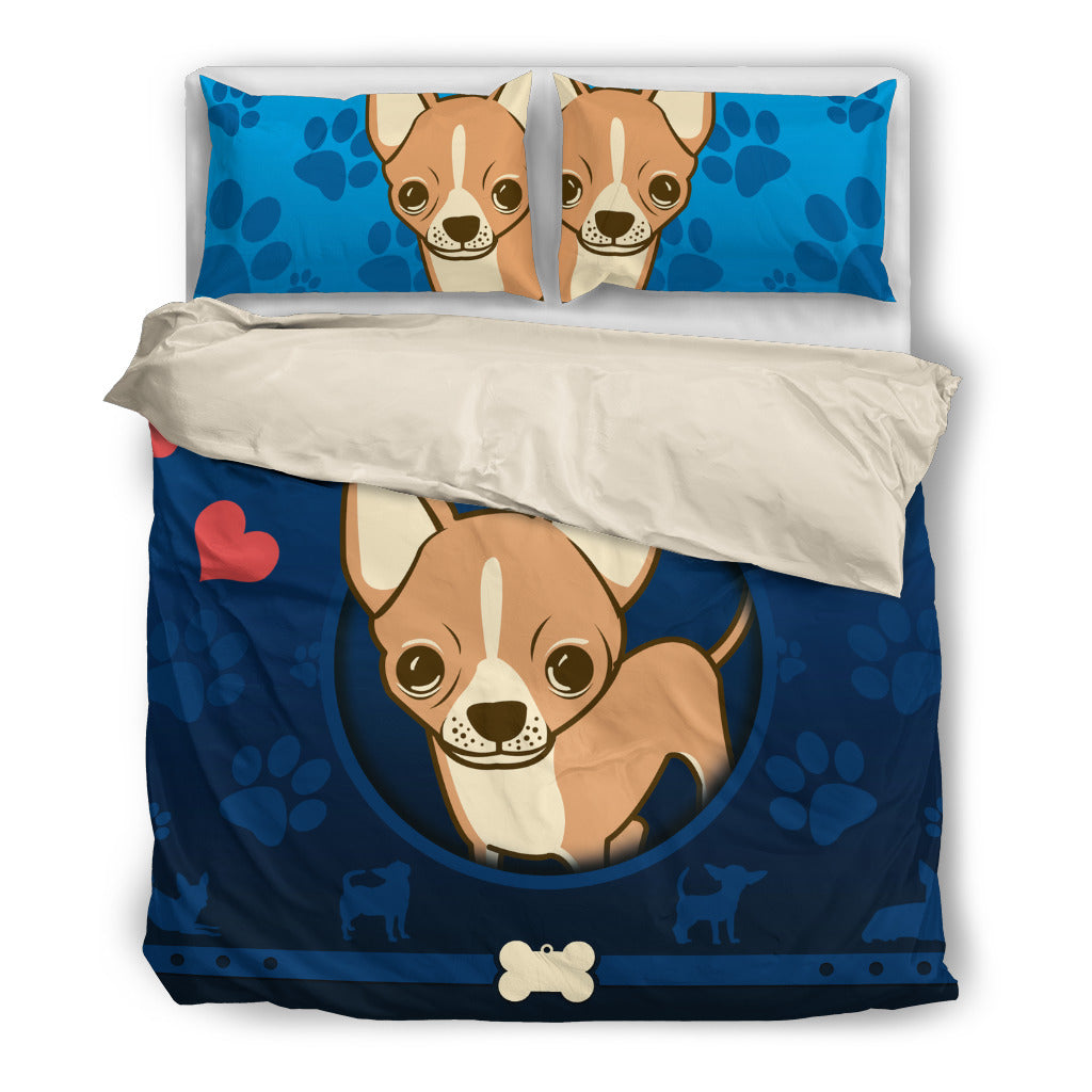 Chihuahua Duvet Cover With Pillow Cases