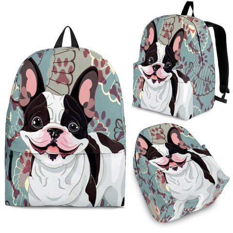 French Bulldog Backpack - Floral