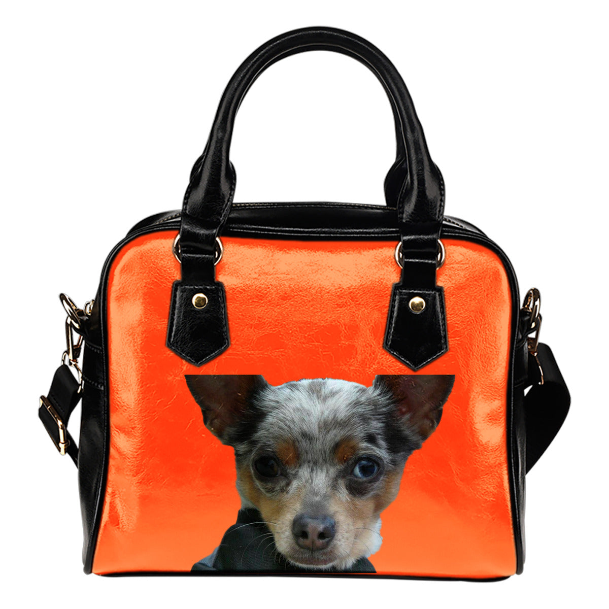 Chihuahua Shoulder Bag - Blue Merle Orange
