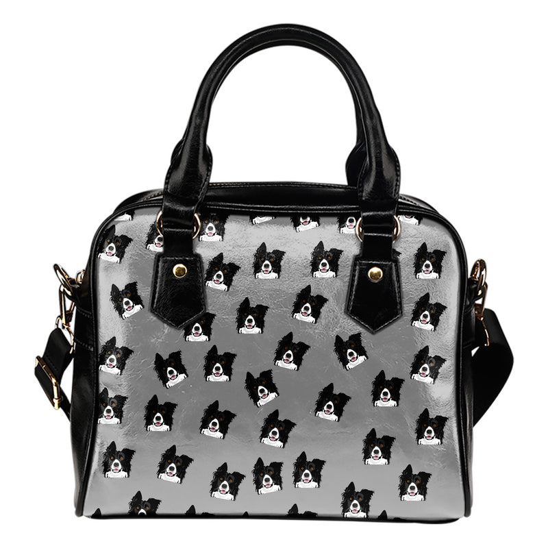 Border Collie Shoulder Bag - Grey