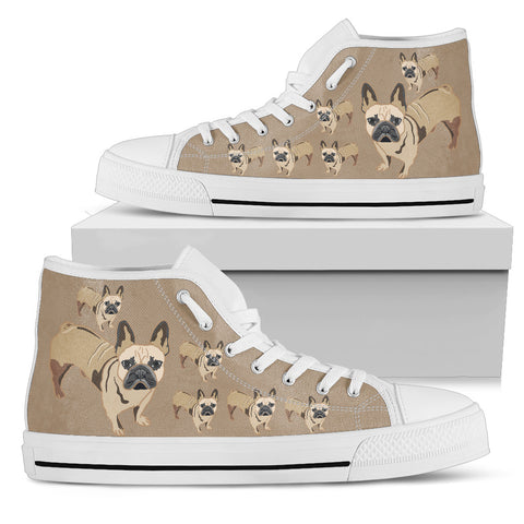French Bulldog Tan Canvas Shoes