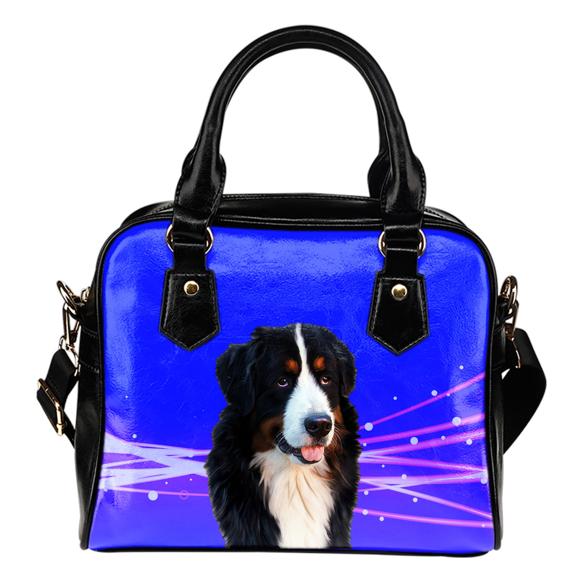 Bernese Mountain Dog Shoulder Bag - Blue