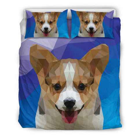 Corgi Dog Modern Art Duvet Set