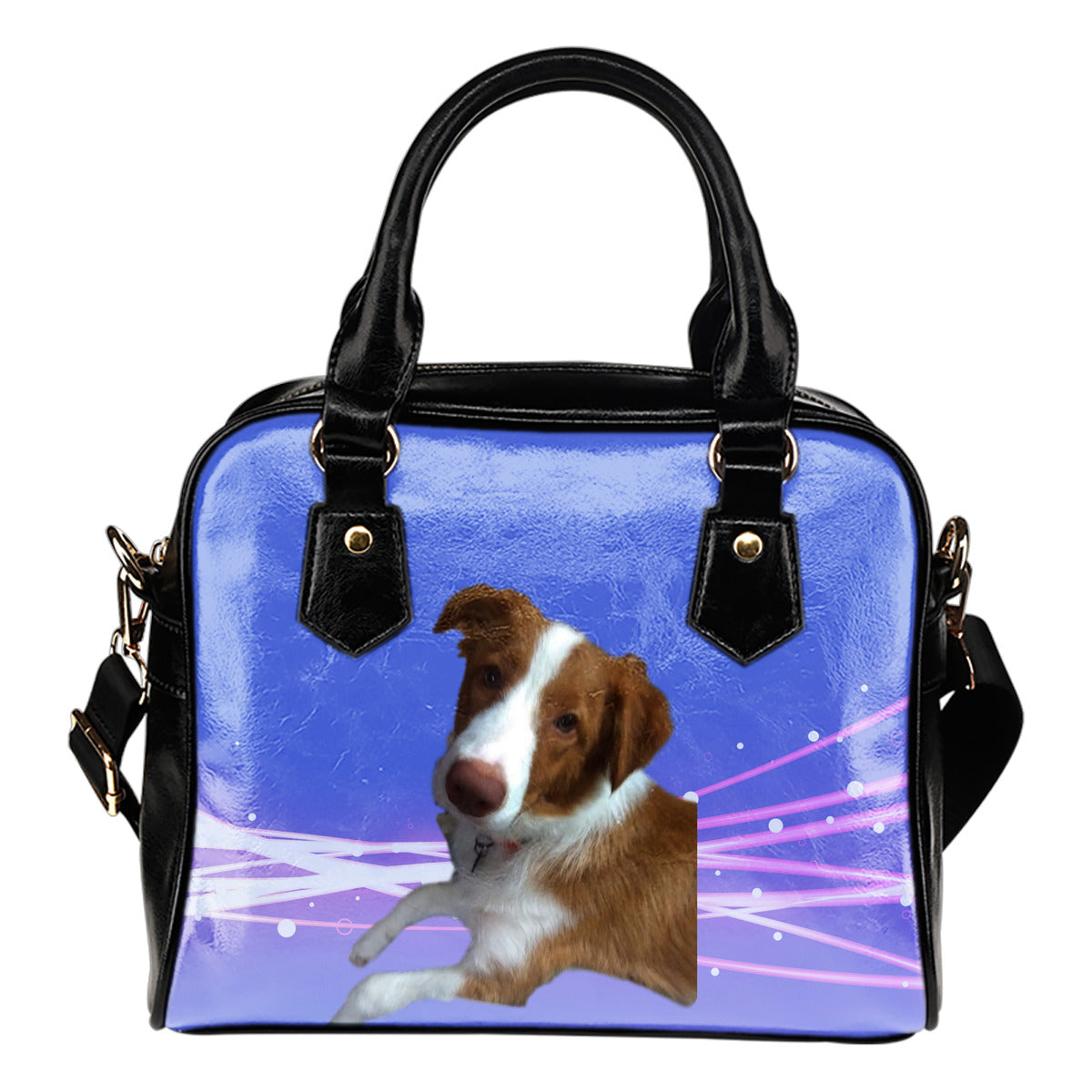 Border Collie Shoulder Bag - Hudson